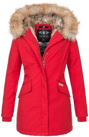 6168273f2625 Navahoo Damen Winter Jacke Parka Mantel Winterjacke warm Kunstfell Premium  B669  Amazon.de  Bekleidung