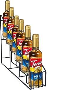 FixtureDisplays Coffee Syrup Bottle Rack Wire Rack Bottle Glorifier Display Stand Rack Bar Liquor Display 10031-NPF