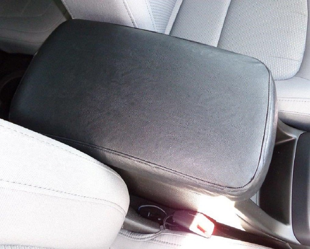Car Console Covers Plus Fits Toyota Highlander 2008-2013 Faux Leather Center Armrest Cover for Center Console Lid Made in USA