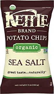 product image for Kettle Brand Potato Chips, Organic Sea Salt, 5 Ounce Bag