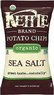 product image for Kettle Brand Potato Chips, Organic Sea Salt, 5 Ounce Bag