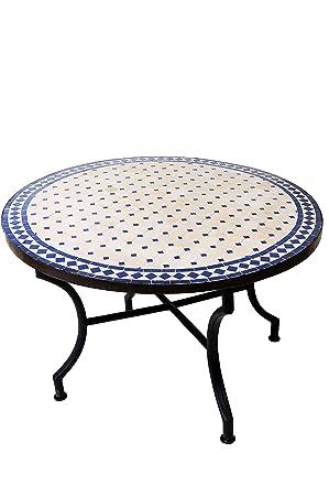 Marocain Table Basse en mosaïque Ronde pour Balcon ou Jardin Ø 100 ...