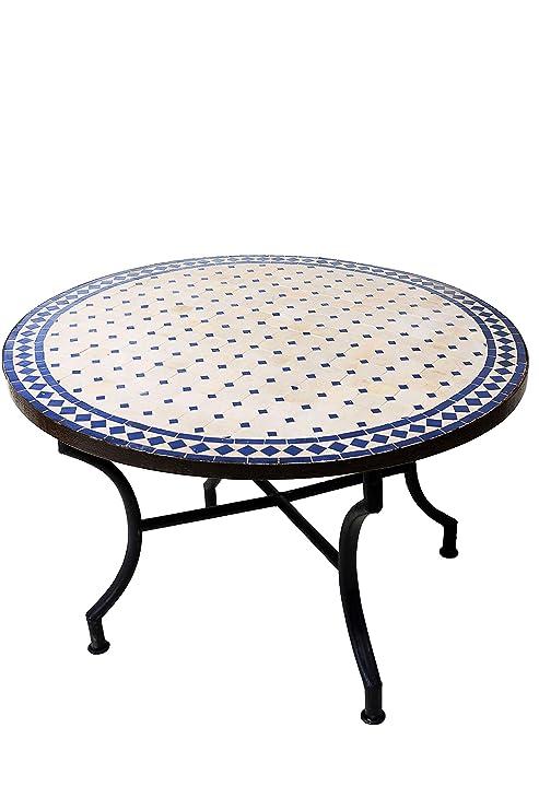 Marocain Table Basse en mosaïque Ronde pour Balcon ou Jardin ...
