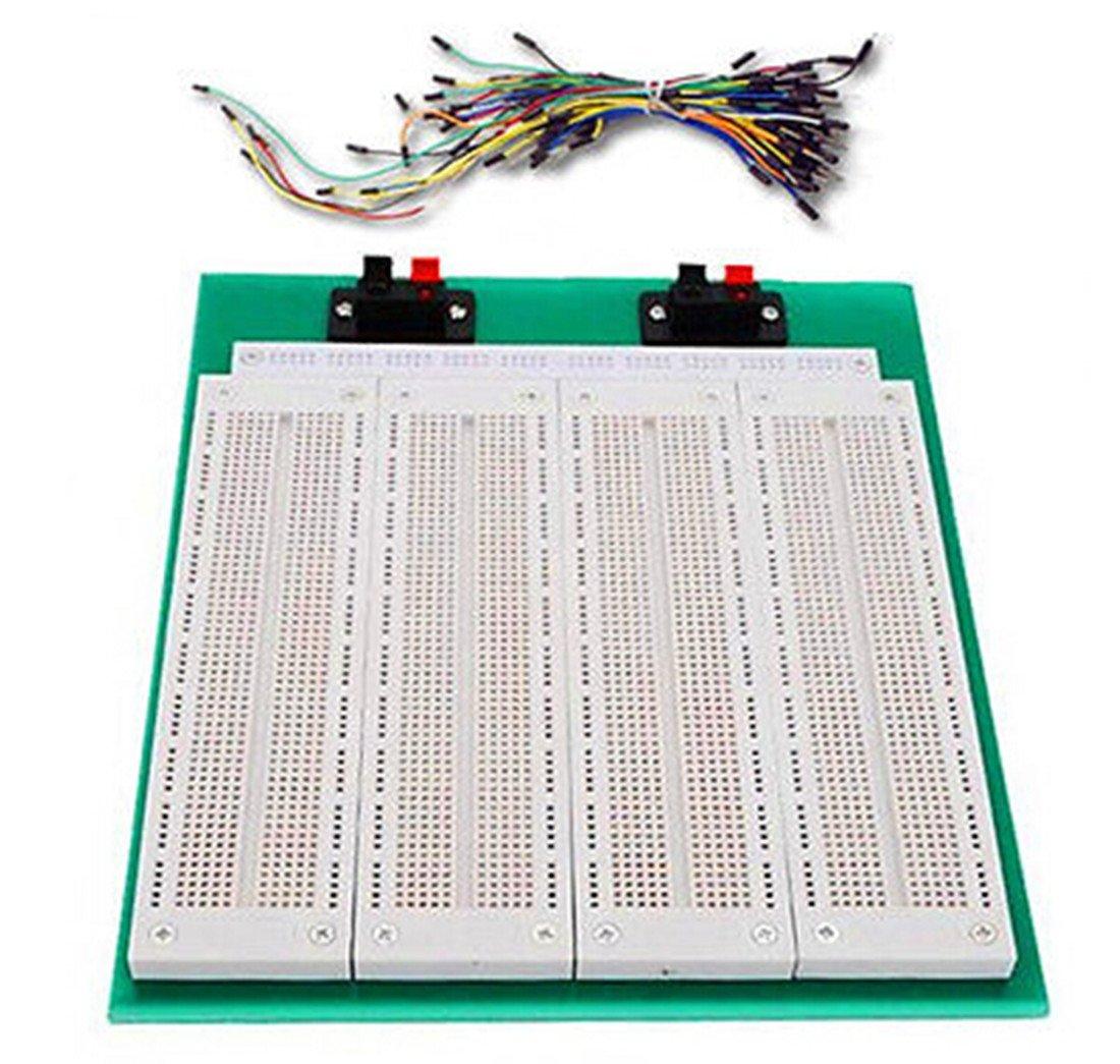 WYPH 4 in1 700 Punto SYB-500 Tiepoint PCB sin soldadura protoboard + 65pcs Jumper alambre: Amazon.es: Electrónica