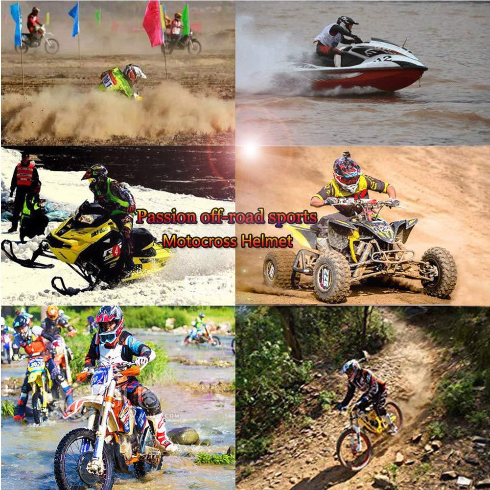 LEENY Cascos de Motocross Adulto Cascos de Motocicleta con Gafas//M/áscara//Guantes Motos Deportivas Off-Road DH Enduro Casco ATV MTB Quad Cascos de Cross para Moto Negro Naranja