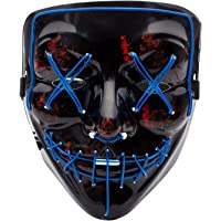 Qhome LED Light up Purge Mask for Festival Cosplay Halloween Costume