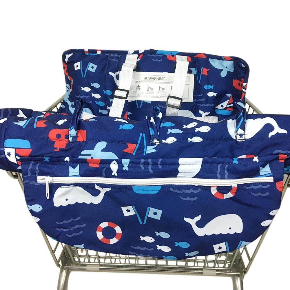 Baby Cushion Printed Child Supermarket Trolley Dining Chair Protection Antibacterial Safety Travel Cushion Portable Shopping Cart Cushion