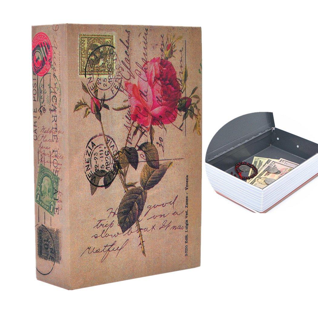 Portable Safe Diversion Books Libro sicuro nascosto con serratura a combinazione per la memorizzazione sicura dei soldi Taglia S 18 * 11, 5 * 5, 5 cm - 7 * 4, 5 * 2, 2 pollici SITEKA