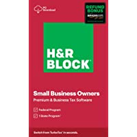 H&R Block Tax Software Premium & Business 2020 with Refund Bonus Offer (Amazon Exclusive) [Download]