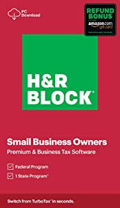 H&R Block Tax Software Premium & Business 2020 with Refund Bonus Offer (Amazon Exclusive) [PC Download]