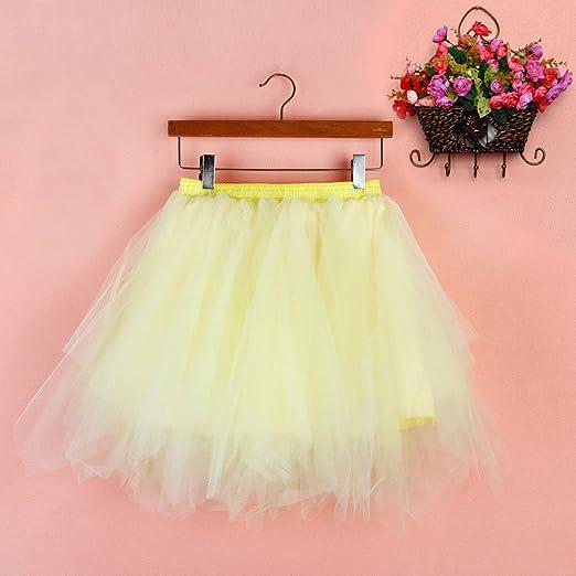 7e315603b2 TIMEMEAN Falda Corta para Mujer Gasa Plisada Falda De Baile De Tutú para  Adulto  Amazon.es  Ropa y accesorios