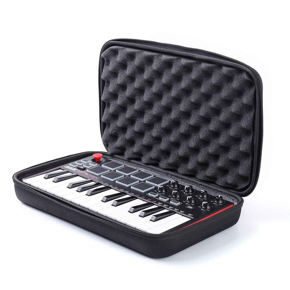 Esimen Hard Case for Akai Professional MPK Mini MKII | 25-Key Ultra-Portable USB MIDI Drum Pad Keyboard Controller Carry Bag (Black)