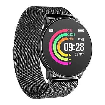 Azorex SmartWatch Multifunción Reloj Inteligente Redondo Negocio Trabajo Impermeable IP67, Pulsera Actividad Control Remoto para iPhone Xiaomi, Huawei ...