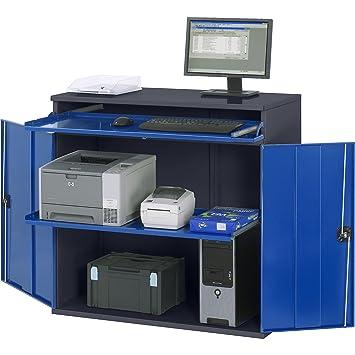 RAU Computer-Arbeitsstation - Schrankgehäuse mit 1 Ausziehboden ...
