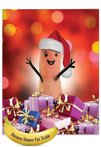 Amazon.com : J4983CXTG Jumbo Christmas Thank You Greeting Card ...