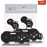 New SNES Super Nintendo Controller, iNNEXT Retro USB Super Classic Controller for PC / Mac (Pack of 2)