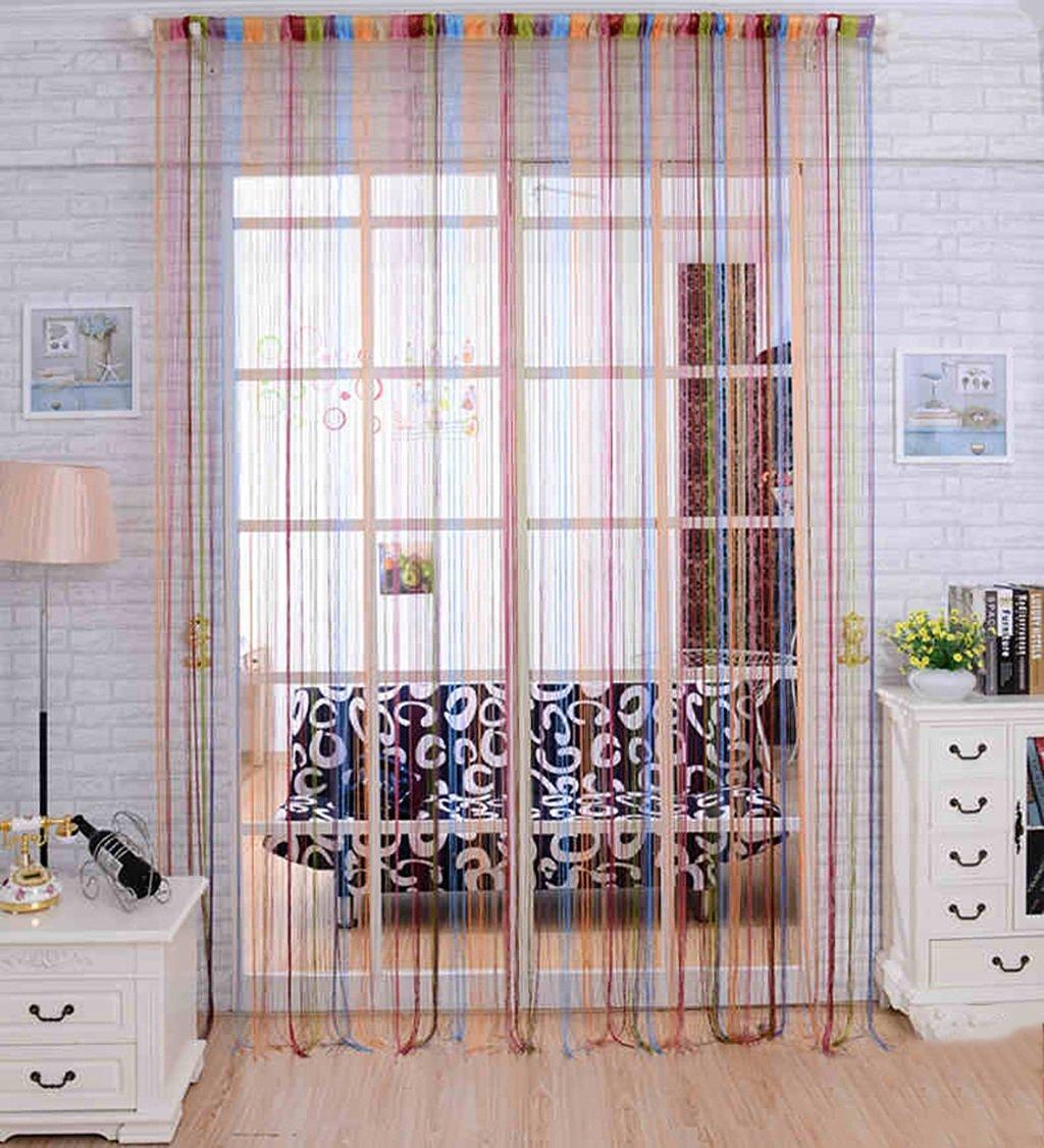 LIANJUN Interno Divisorio della Stanza della Finestra della Tenda della Corda dell'arcobaleno per la Stanza della Finestra Shopwindow dell'arredonnato, 2 Colorei, 2 Modelli Prodotti per la casa