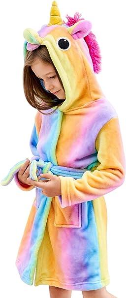 Unicorn Soft Unicorn Hooded Bathrobe Sleepwear - Unicorn Gifts for Girls