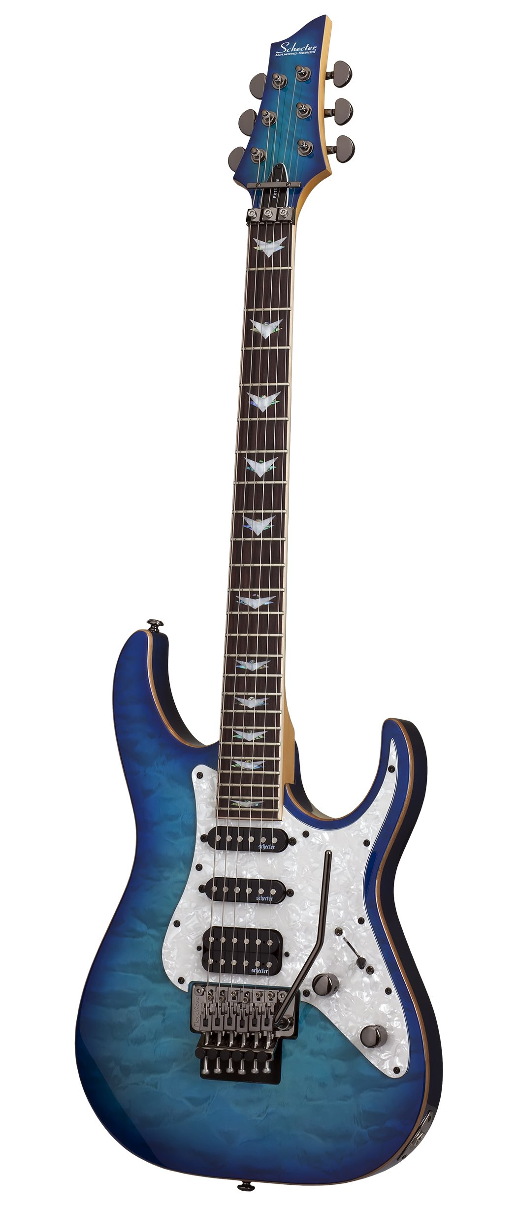 schecter 6 string solid body electric guitar ocean blue burst 1994 guitar affinity. Black Bedroom Furniture Sets. Home Design Ideas