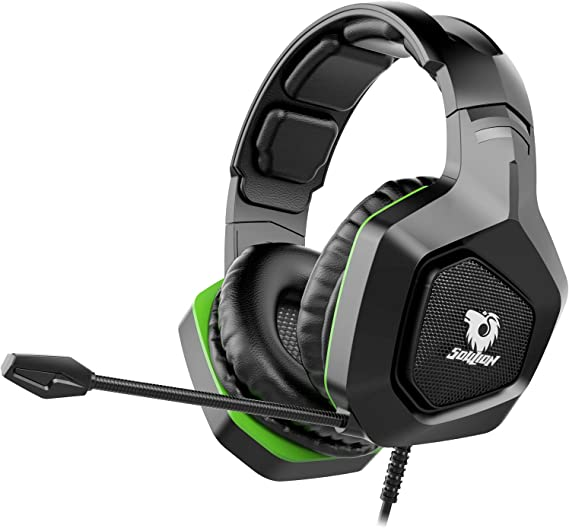Soulion Tracer 20 Gaming Headset for PS4 Xbox One PC- Over Ear Headphones with Noise Cancelling Microphone