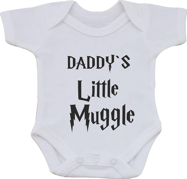 22538c8ec Daddys Little Muggle Harry Potter Funny Humour Cotton White Baby Vest OR  BIB (First Size bib): Amazon.co.uk: Clothing