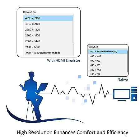 3-Pack | Paquete de 3 Adwits 4K/30Hz HDMI Emulador de pantalla DDC/EDID Adaptador de monitor de fantasma sin cabeza Dummy Plug, Nueva versión ...