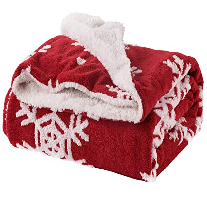 bedsure christmas blanket decoration snowflake throw blanket ideas for kids for dad and mom for women
