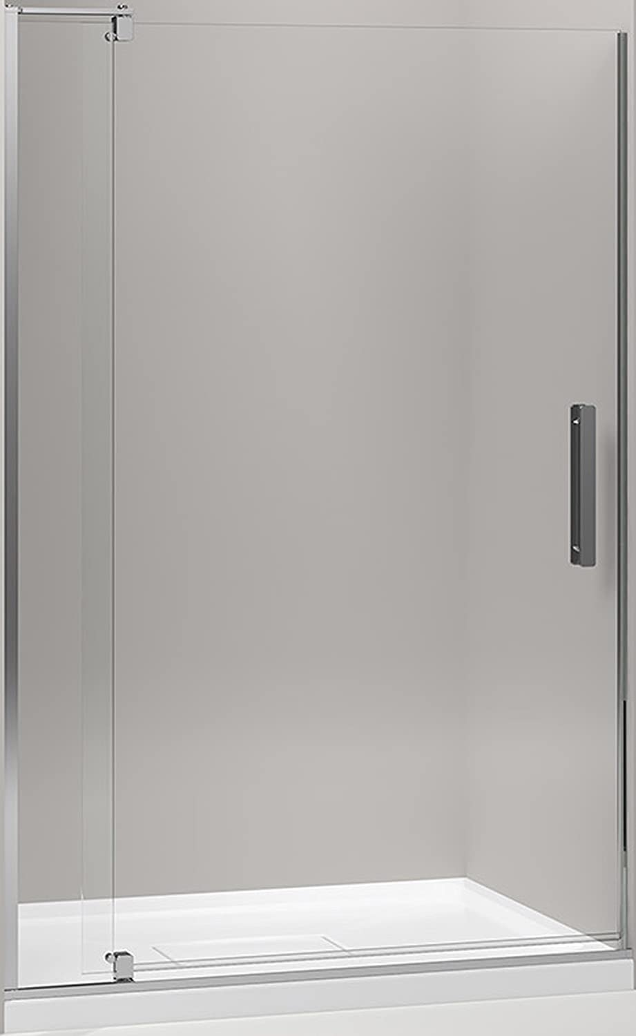 Kohler k 707551 l shp revel pivot shower door with 516 thick kohler k 707551 l shp revel pivot shower door with 516 thick crystal clear glass 70 x 43 18 x 48 bright polished silver amazon vtopaller Gallery