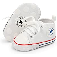 myppgg Unisex Baby Boys Girls Canvas Sneakers Soft Soled High-Top Ankle Infant Crib Shoes Toddler First Walkers