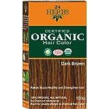 Indus Valley 24 Herbs 100% Organic Dark Brown Hair Color-150G