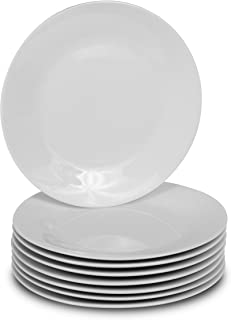 8 White Round Dinner Plates - 10.5-Inch Classic Solid Coupe Style Porcelain Dinnerware  sc 1 st  Amazon.com & Amazon.com | CAC China COP-7 Coupe 7-Inch Super White Porcelain ...
