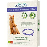 Arava Flea & Tick Prevention Collar - for Cats & Kittens - Length-14'' - 11 Natural...