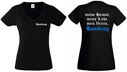 62721be204d843 Fruit of the Loom Hamburg Damen T-Shirt Meine Heimat Meine Liebe Mein  Verein Girlie
