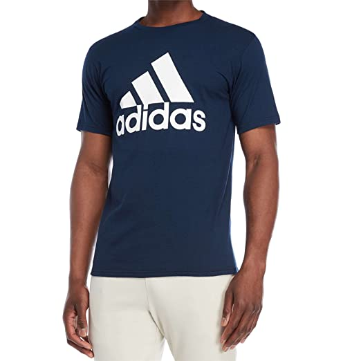 3ed8edd6af0af Amazon.com: adidas Men's Logo T-Shirt (Navy/White, S): Sports & Outdoors