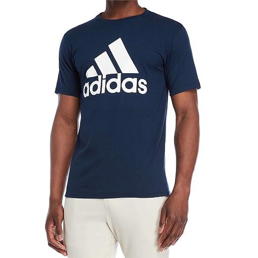01c2408d330c3 Amazon.com: adidas Men's Logo T-Shirt (Navy/White, S): Sports & Outdoors