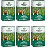 Organic India Tulsi Original Herbal Tea - Stress Relieving & Energizing, Immune Support, Adaptogen, Vegan, Gluten-Free, USDA