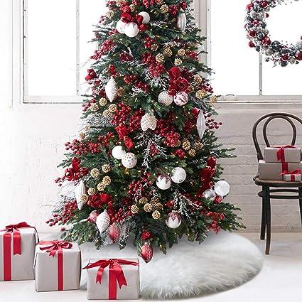 Amazoncom O Heart 48 Inches Christmas Tree Skirt Upgrade Thick