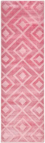 Solo Rugs Josefina Solid Contemporary Runner Handmade Area Rug