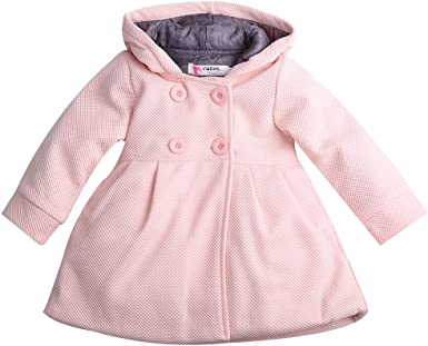 Toddler Baby Girls Fashion Trench Coat Hooded Button Cute Outerwear Jacket