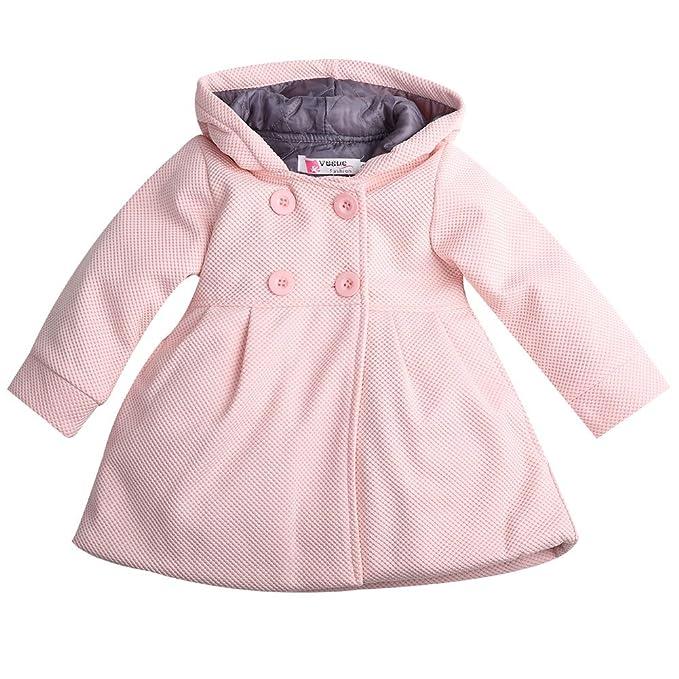 Amazon.com: Abrigo de invierno con capucha para bebé o niña ...