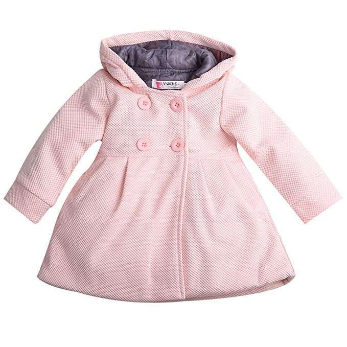 dfb932d28 Baby Toddler Girls Fall Winter Trench Coat Wind Hooded Jacket Kids Outerwear  (1-2