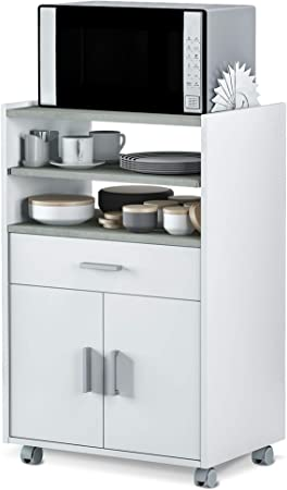 El mueble auxiliar microondas destaca por una gran funcionalidad y utilidad mueble auxiliar de cocin
