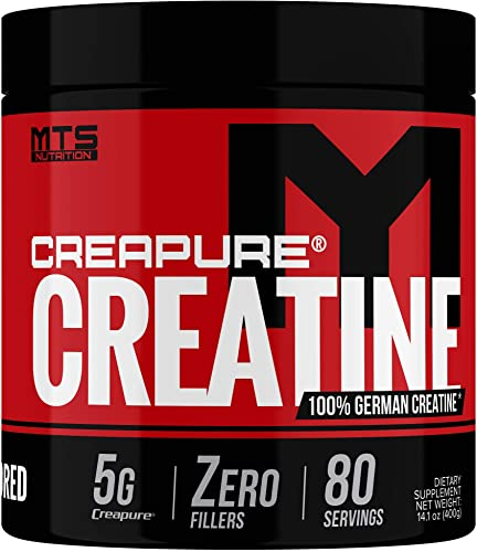 MTS Nutrition Creapure Creatine Powder – Muscle Growth Recovery Pure German Creatine Supplement – 80 Servings Unflavored