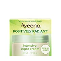 Aveeno Positively Radiant Intensive Moisturizing Night Cream with Total Soy Complex...