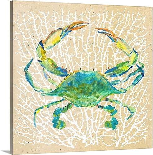 Sealife Crab Canvas Wall Art Print