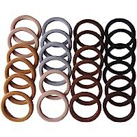 CCINEE Brown Series Hairbands,Seamless hair loop,Girl Elastic Hair Ties Sweet headband hair Ring-24Pieces