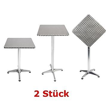 Lot De  Mojawo Bistro Table Terrasse Sur Pied Aluminium  X  Cm