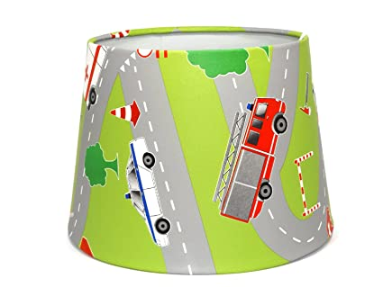 Fire engine police car ambulance cars lampshade or ceiling light fire engine police car ambulance cars lampshade or ceiling light shade 95quot dual purpose nursery mozeypictures Images