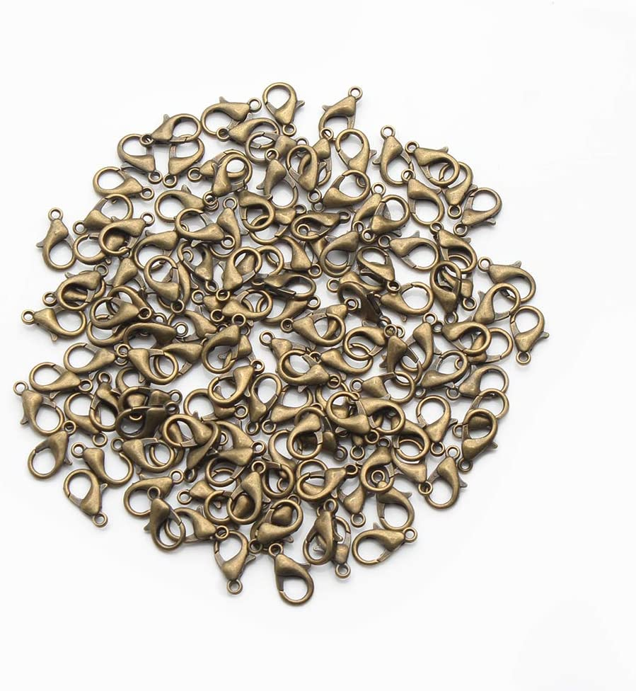 Wholesale 100pcs  Silver Plated Lobster Clasps Hooks Jewelry Findings 12 x 6mm