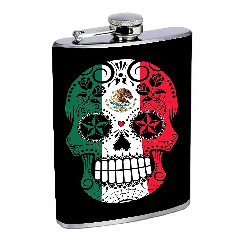 都内で 8オンス酒フラスコwith Mexican Sugar SkullステンレススチールDrinkingフラスコwith個性デザイナーフラスコギフトレディースとメンズ Mexican B07DX5CJ5R B07DX5CJ5R, クサツマチ:f74f6498 --- a0267596.xsph.ru